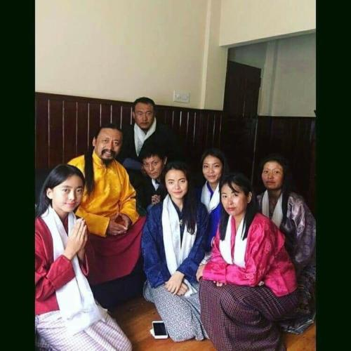 Rinpoche with Bhutanese students