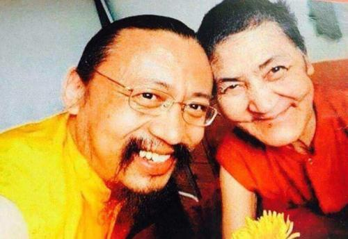 Rinpoche with his mother, Urgen Drolma Lama